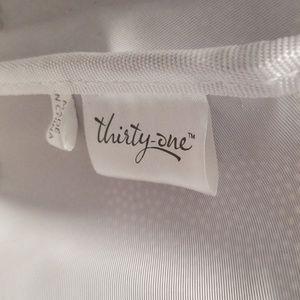thirty-one Bags - ThirtyOne Tote, NWOT, brown & white